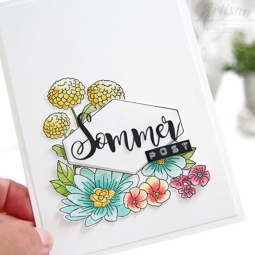 Blumige Sommerpost