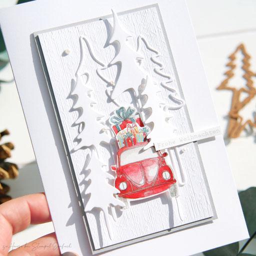 Weihnachtskarten-Auto