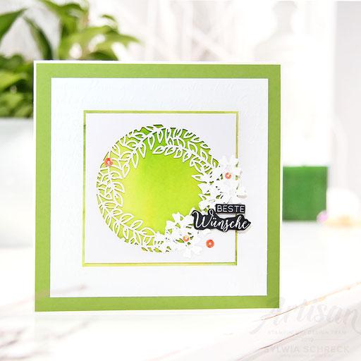 Geburtstagskarte in Grün