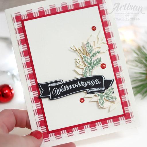 Weihnachtskarte Landhaus