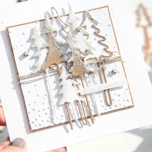 Weihnachtskarten Bäume
