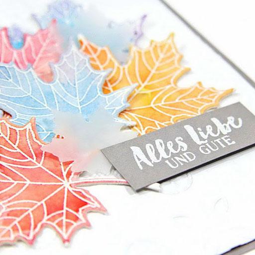 Herbstkarte mit blaettern