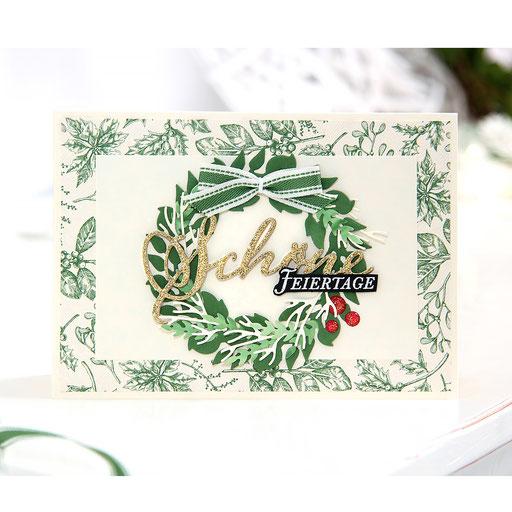 Weihnachtskarte-Landhausweihnacht