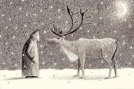 Philéas aime écouter la neige tomber