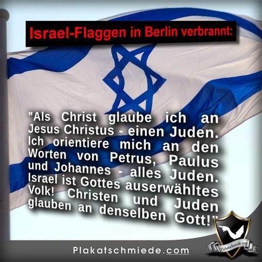 Antisemitismus: Israel-Flaggen in Berlin verbrannt. Als Christ glaube ich an einen Juden.