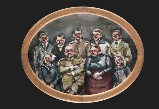 o.t( erotnase), oval, 30 x40 cm, oil on linen, 2012, framed