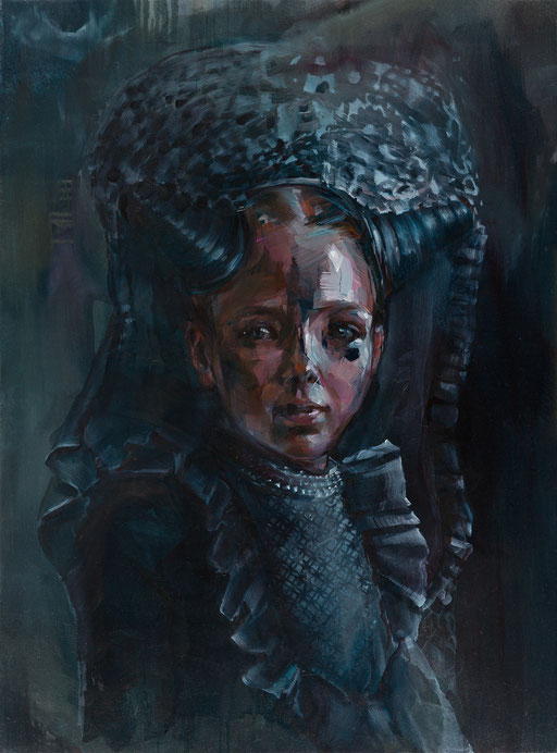 tracht, 70 x 60 cm, oil on linen,2015