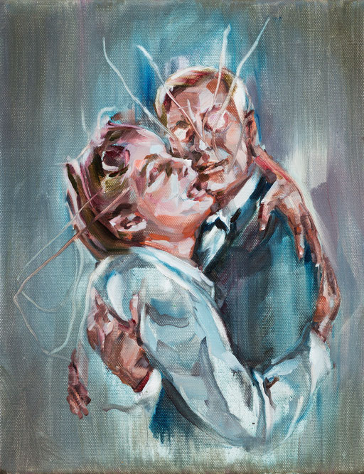 o.t( in love),30 x 20 cm, oil on linen, 2011