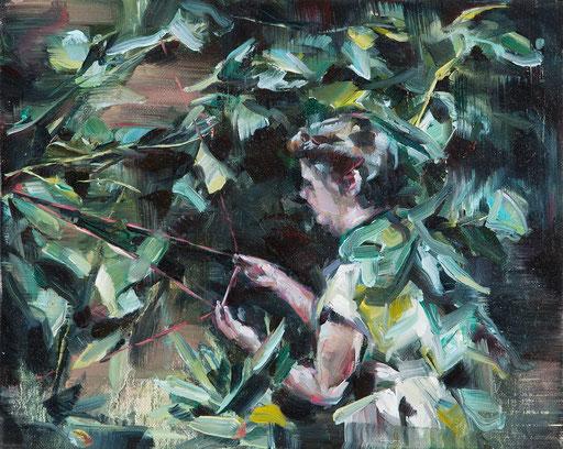 o.t(lese), 20 x 30 cm, oil on linen, 2014