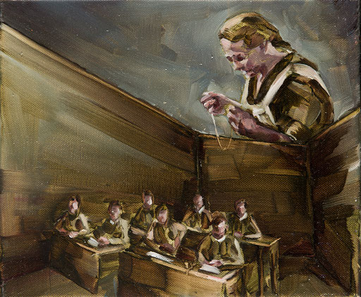 o.t(klassenzimmer), 20 x 30 cm, oil on linen, 2011