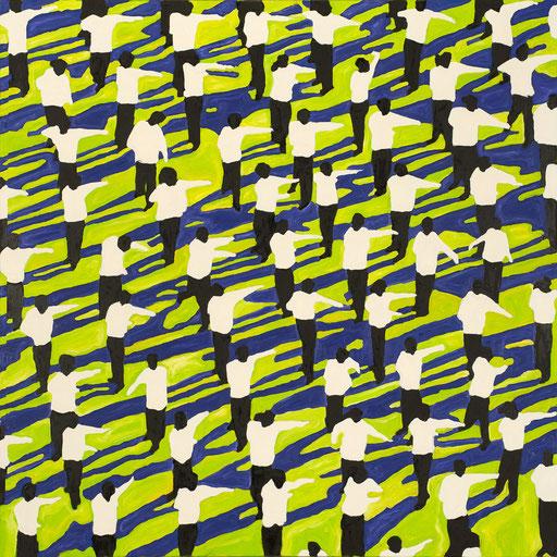 Crowd 05 | 2012 | 120x120cm | Öl auf Leinwand