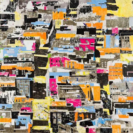 City 07 | 2015 | 120x120cm | Papier auf Holz