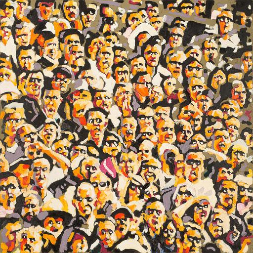 Crowd 12 | 2013 | 120x120cm | Öl auf Leinwand