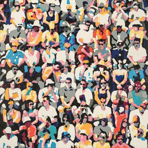 Crowd 07 | 2013 | 140x140cm | Öl auf Leinwand