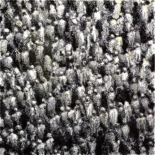 Croud 19 | 2014 | 100x100cm | Edding auf PVC