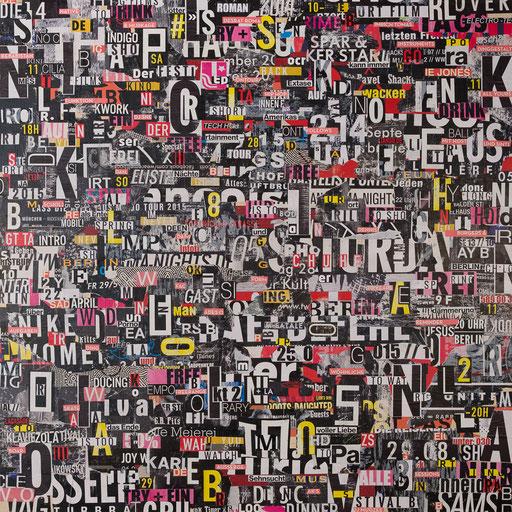 City 11 | 2017 | 120x120cm | Papier auf Holz