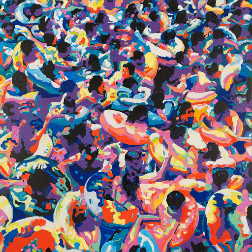 Crowd 13 | 2013 | 140x140cm | Öl auf Leinwand
