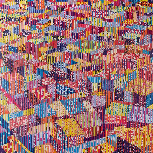 City 10 | 2017 | 120x120cm | Papier auf Holz