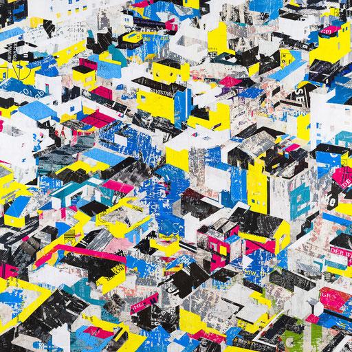 City 06 | 2015 | 120x120cm | Papier auf Holz