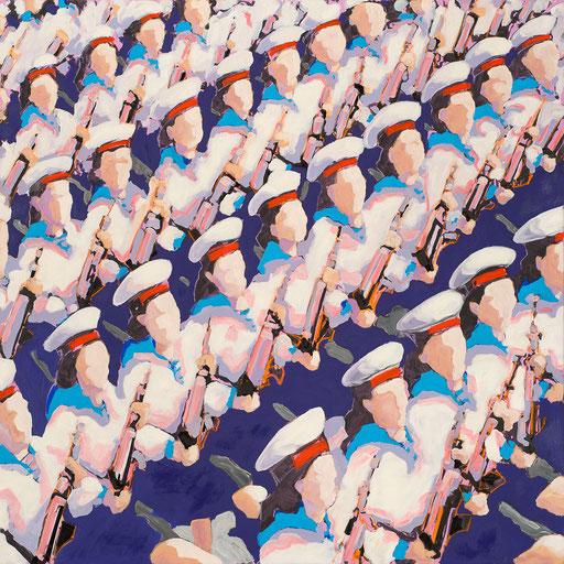 Crowd 10 | 2013 | 140x140cm | Acryl auf Leinwand