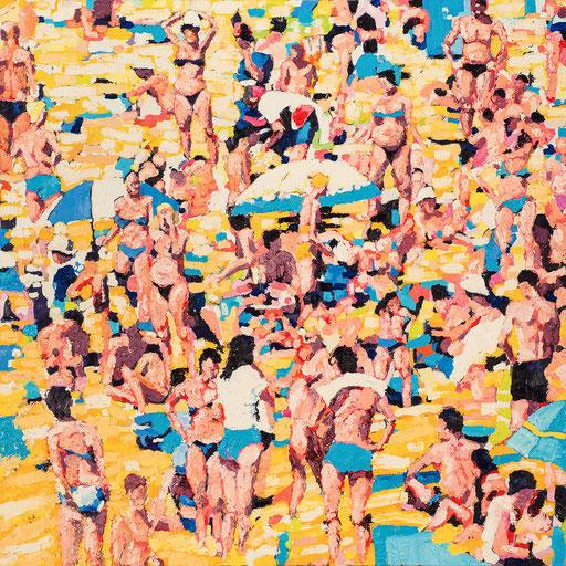 Crowd 02 | 2012 | 120x120cm | Öl auf Leinwand