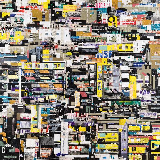 City 05 | 2015 | 120x120cm | Papier auf Holz