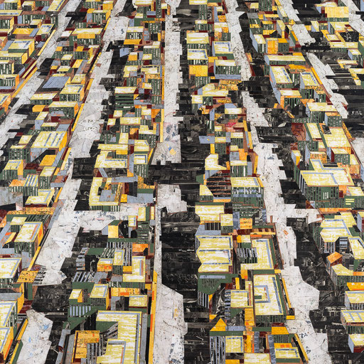 City 04 | 2015 | 120x120cm | Papier auf Holz