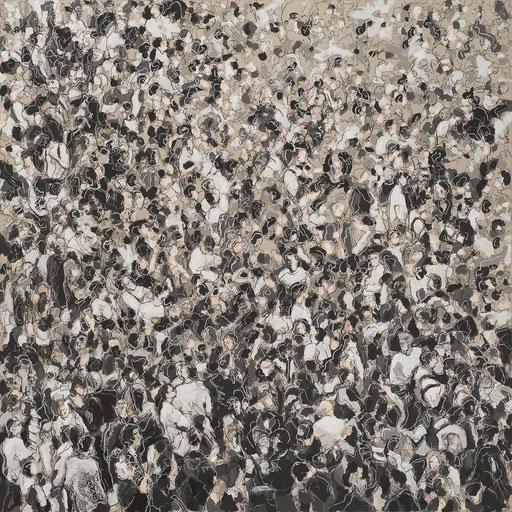 Crowd 14 | 2013 | 140x140cm | Acryl und Kreide auf Leinwand