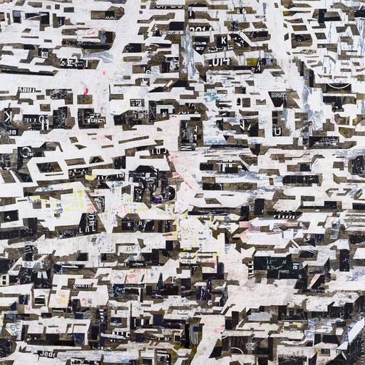 City 08 | 2015 | 120x120cm | Papier auf Holz