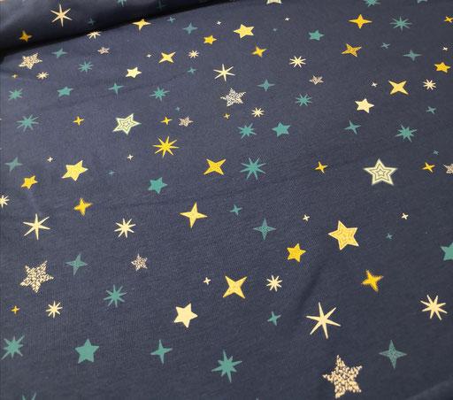 bunte Galaxy Stars blau - Jersey