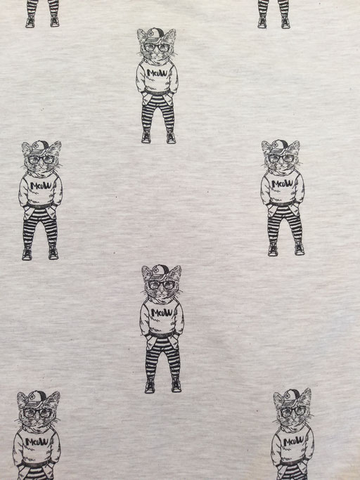 Hipster Cat Beige - Sweat aufgeraut