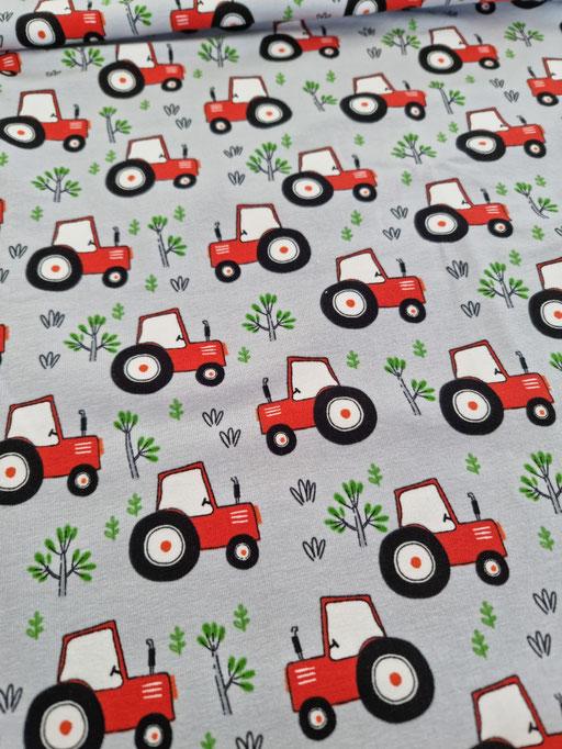 Traktoren satingrau - Jersey