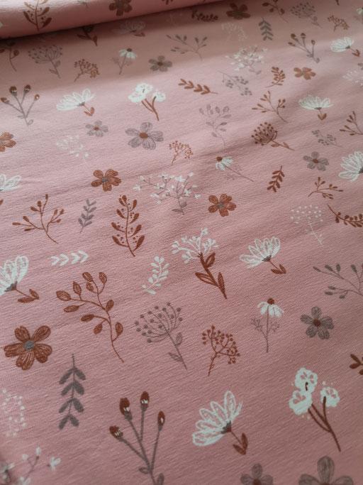 Blumenwiese rosa - Jersey