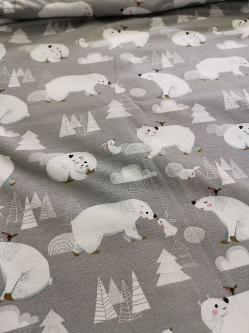 Eisbären auf grau - Jersey