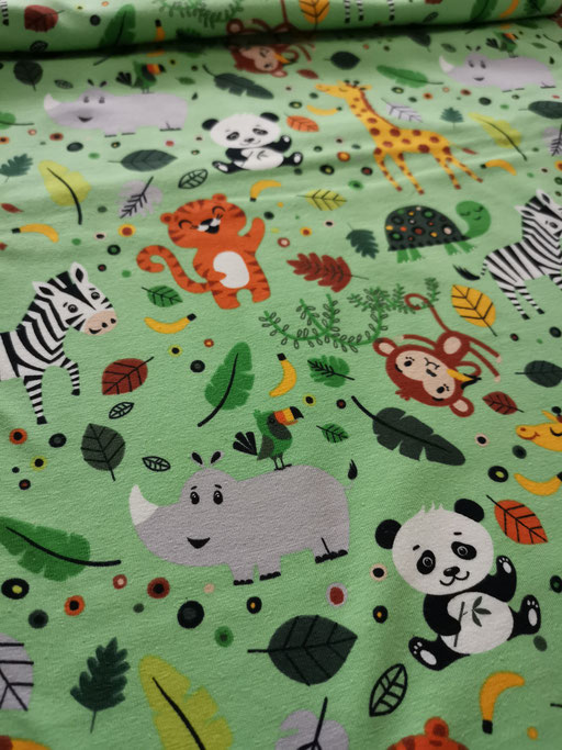 Zootiere hellgrün - Jersey