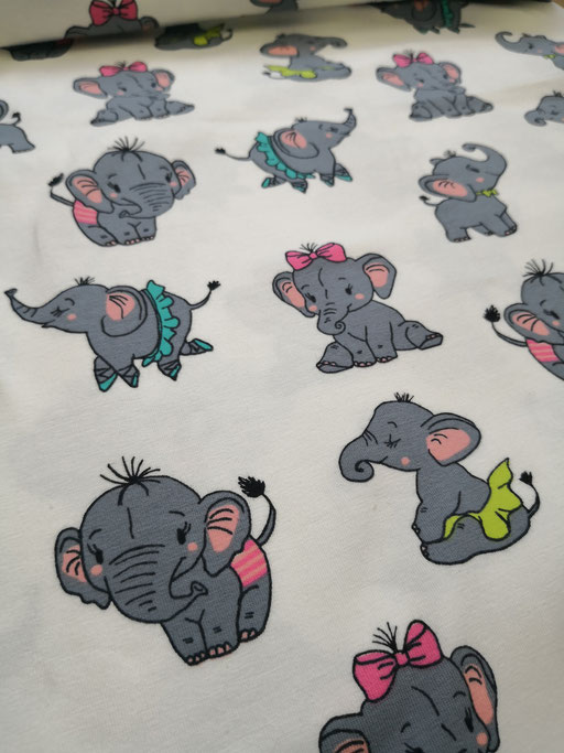 Elefanten bunt - Jersey