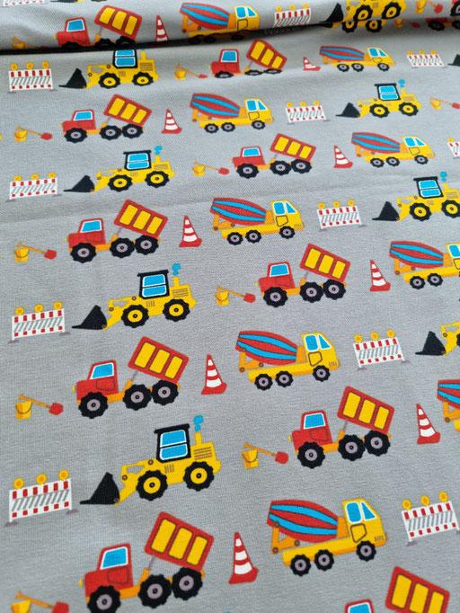 Fahrzeuge auf der Baustelle grau - Jersey