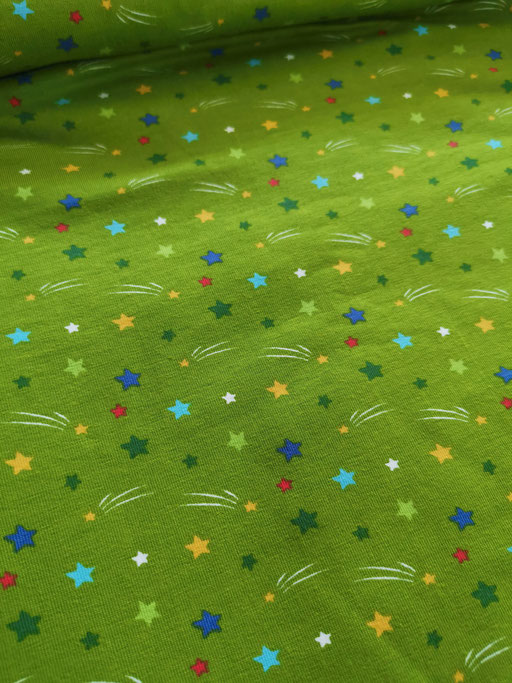 Sterne grün - Jersey