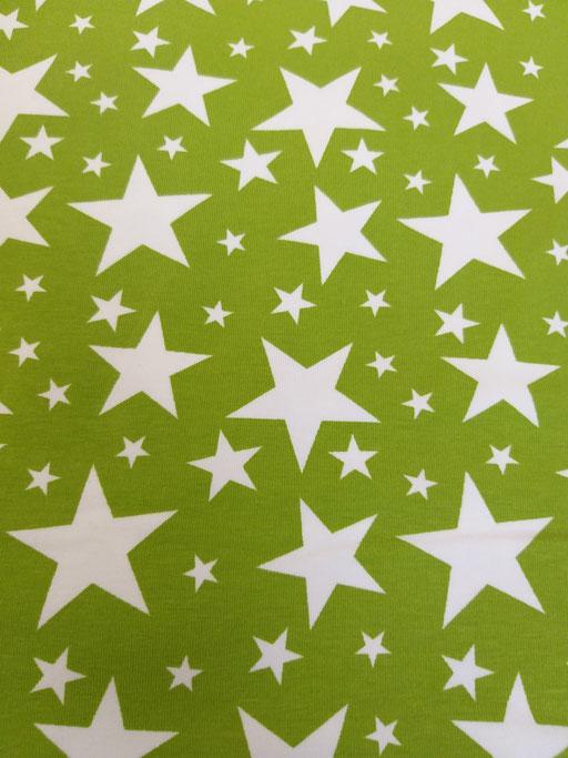 Sterne gross grün - Jersey