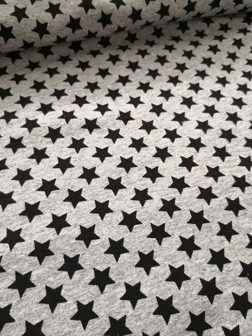 Star schwarz auf grau - Sommersweat