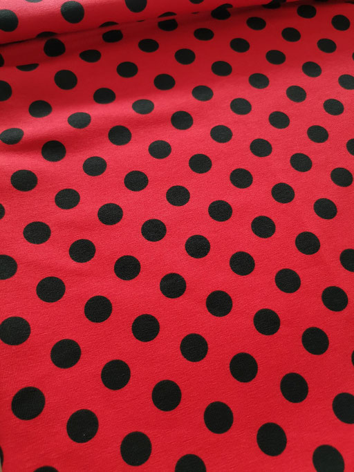 Dot red Black - Jersey
