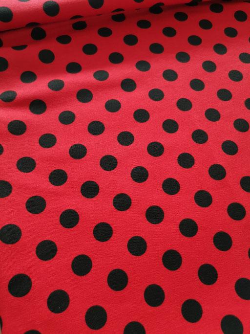 Dot red Black - Jersey
