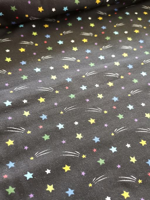 Sterne schwarz - Jersey