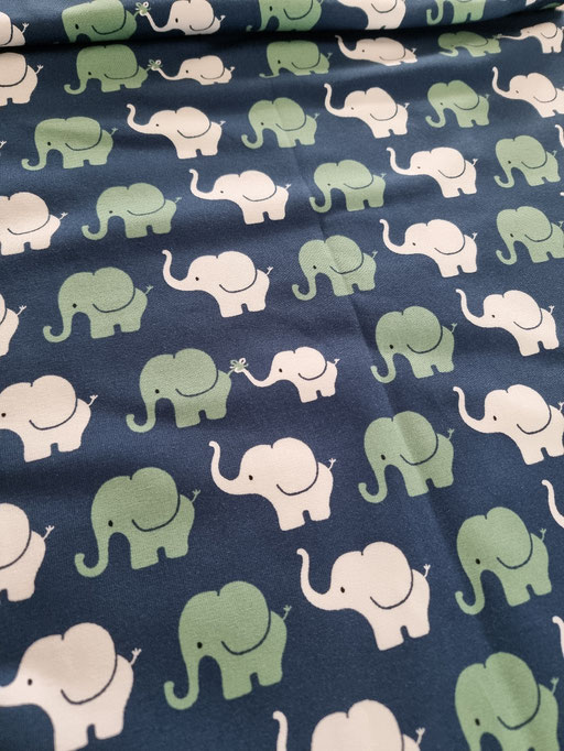 Elefanten weiss, mint - Jersey