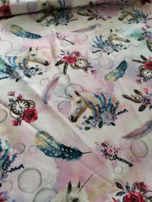 Einhorn mit Federn rosa - Jersey
