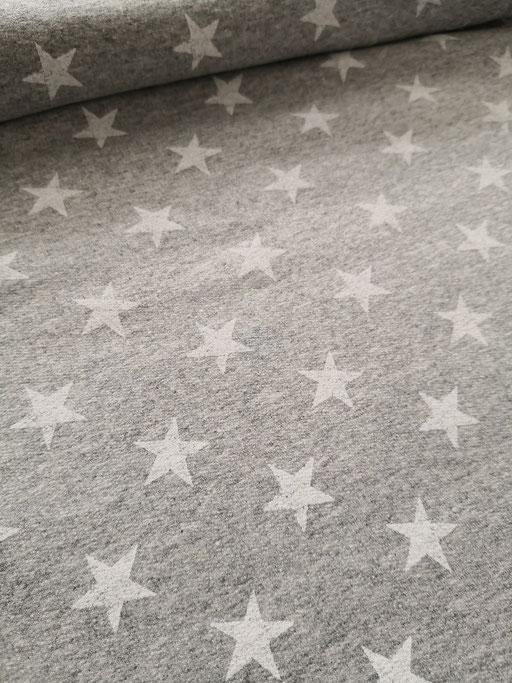 Star weiss auf grau - Sommersweat