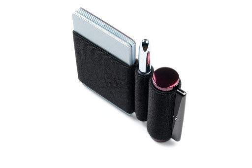 naoLoop Ultra with 3 pockets  for cards, money, pen, lipstick, USB stick or gum