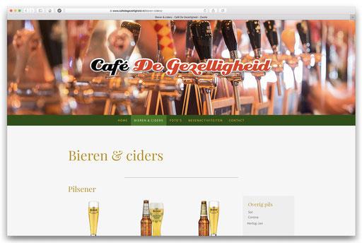 website Café De Gezelligheid