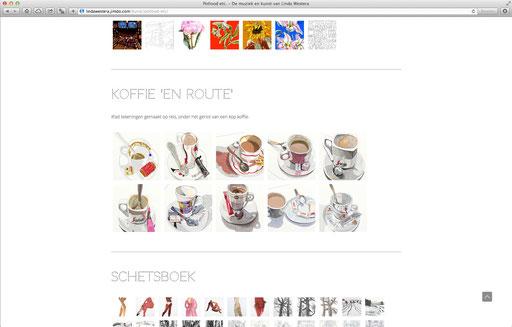 website Linda Westera, kunstenares en muzikante