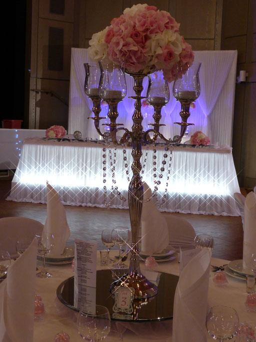 Kerzenständer Hortensien